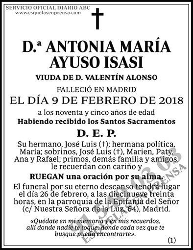 Antonia María Ayuso Isasi